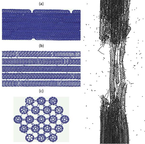 碳纳米管拉伸模拟